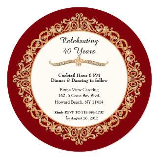 Cartão 40th Celebração do aniversário de casamento do