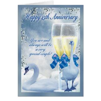 Cartão 45th aniversário - aniversário da safira