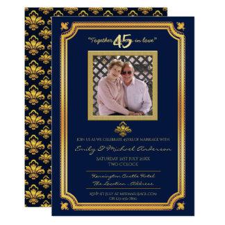 Cartão 45th Aniversário de casamento - ADICIONE os