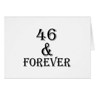 Cartão 46 e para sempre design do aniversário