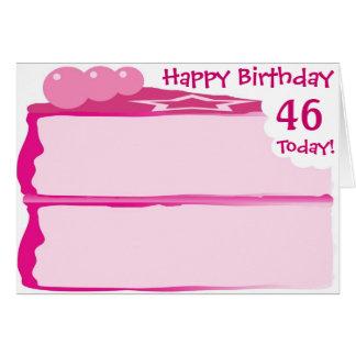 Cartão 46th aniversário feliz