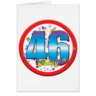 Cartão 46th Aniversário hoje v2