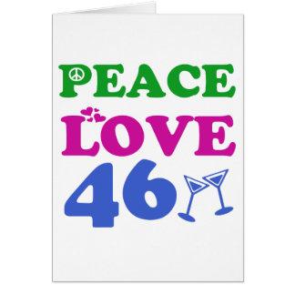 Cartão 46th Design do aniversário