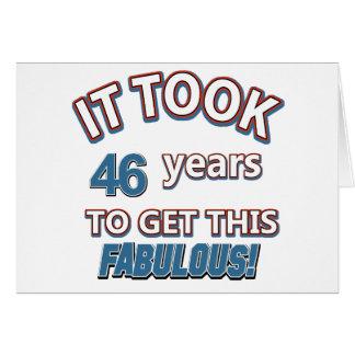 Cartão 46th design do aniversário do ano