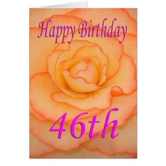 Cartão 46th flor feliz do aniversário