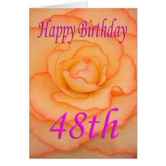 Cartão 48th flor feliz do aniversário