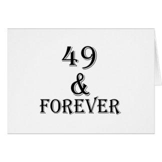 Cartão 49 e para sempre design do aniversário