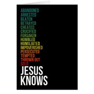 Cartão 4:15 dos hebraicos - Jesus sabe