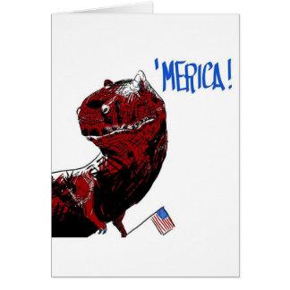 Cartão 4 de julho T Rex