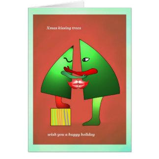 Cartão 4 do beijo do Xmas por Anjo Lafin