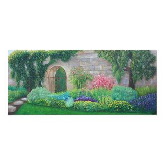 """Cartão 4"""" do caminho do jardim x 9,25"""""""
