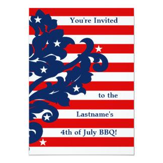Cartão 4o bonito do partido do damasco de julho