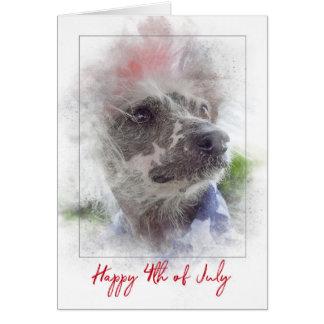 Cartão 4o do cão calvo com crista Julho-Chinês
