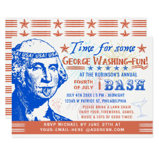 Cartão 4o engraçado do partido da independência de julho