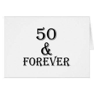 Cartão 50 e para sempre design do aniversário