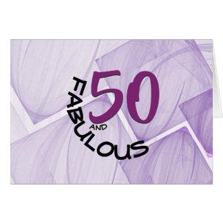 Cartão 50 felizes e tipografia fabulosa do aniversário