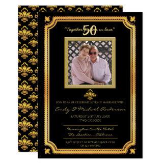 Cartão 50th Aniversário de casamento - ADICIONE os