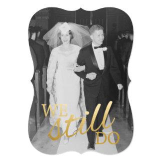 Cartão 50th Aniversário de casamento com foto - nós ainda