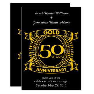 Cartão 50th Aniversário de casamento do ouro