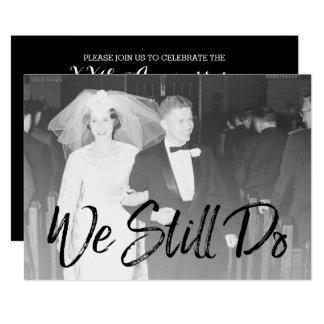 Cartão 50th Aniversário e foto de casamento - nós ainda