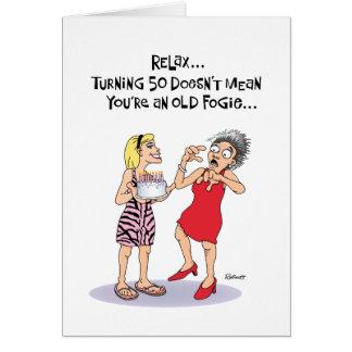 Cartão 50th aniversário engraçado