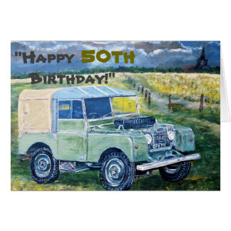 """Cartão """"50th aniversário feliz! """""""