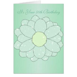 Cartão 50th aniversário floral
