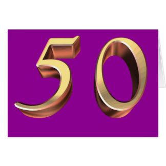 Cartão 50th anos 50 feliz cinqüênta do aniversário 50