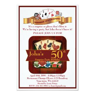 Cartão 50th, casino do homem do aniversário, partido de