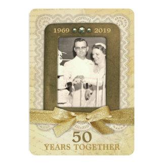 Cartão 50th Colagem do aniversário de casamento dourado 1