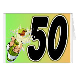 Cartão 50th mercadoria da festa de aniversário