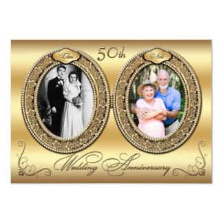 Cartão 50th O aniversário convida 2