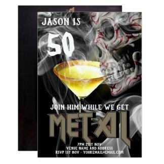Cartão 50th O aniversário do metal pesado convida o
