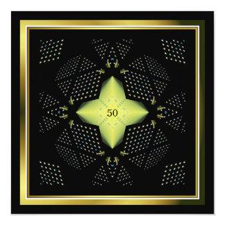 Cartão 50th Trabalhos de arte amarelos da estrela do