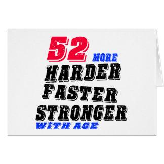 Cartão 52 mais fortes mais rápidos mais duros com idade
