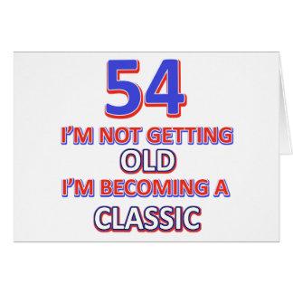Cartão 54 designs do aniversário