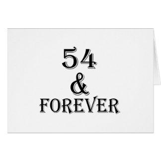 Cartão 54 e para sempre design do aniversário