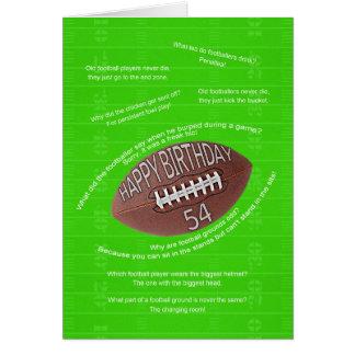 Cartão 54th aniversário, piadas realmente más do futebol
