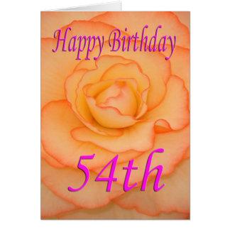 Cartão 54th flor feliz do aniversário
