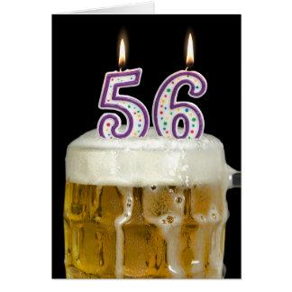 Cartão 56th Cerveja do aniversário