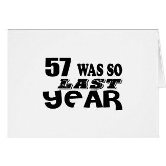 Cartão 57 era assim tão no ano passado o design do