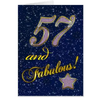 Cartão 57th aniversário para alguém fabuloso