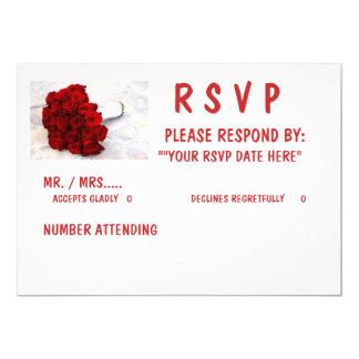 """Cartão 5 x 7 RSVP"""", envelopes brancos padrão incluídos"""