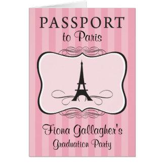 Cartão 5o Passaporte de Pary Paris da graduação da