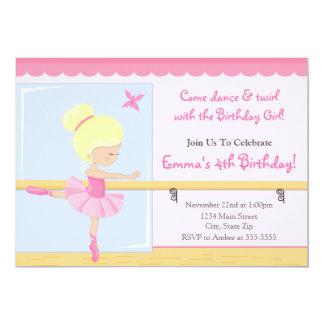 Cartão 5x7 louro do convite do aniversário da