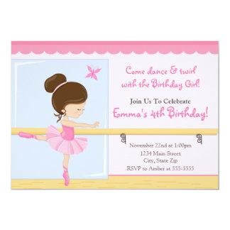 Cartão 5x7 triguenho do convite do aniversário da