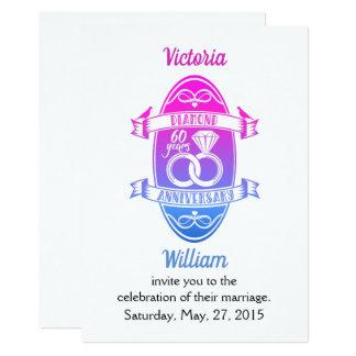 Cartão 60 aniversário de casamento tradicional do