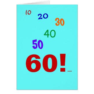 Cartão 60 e ainda explicar!