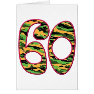 Cartão 60 idade Camo