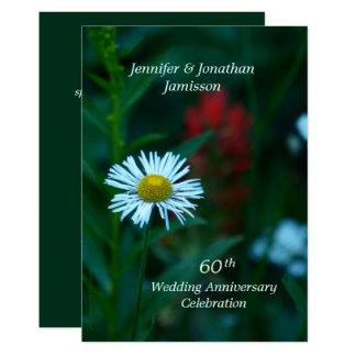 Cartão 60th A festa de aniversário do casamento convida a
